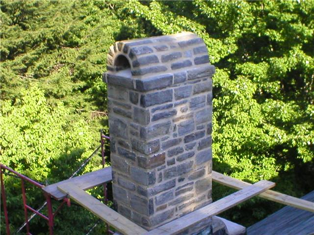 Stone Chimney Repair & Refurbished by W.S. Montgomery Chimney and Masonry Services in Cheltenham, PA 19012